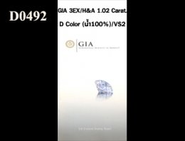 GIA 3EX / H&A 1.02 Ct. D / VS2