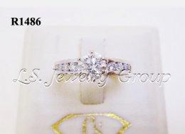 แหวนเพชรชู  0.60 Ct. ก้านเพชรแถว เพชร H&A