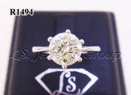 แหวนเพชรชู 1.27 Ct. เพชร H&A
