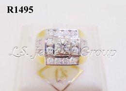 แหวนเพชรชาย 0.32-1.10 Ct. เพชร H&A