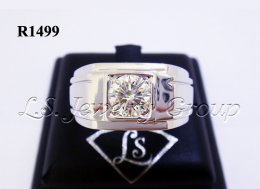 แหวนเพชรชาย 1.01 Ct. เพชร H&A