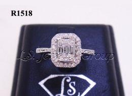 แหวนเพชร Emerald 0.70 Ct. น้ำ99%