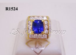 Certified Natural Srilanka Blue Sapphire Ring 3.30 Ct.
