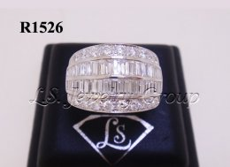 แหวนเพชรกลมและเหลี่ยมสอดแถว 3.15 Ct.