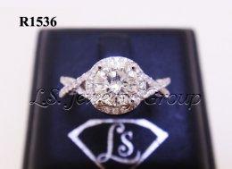แหวนเพชรชู 0.70 Ct. ก้านไขว้ เพชร H&A