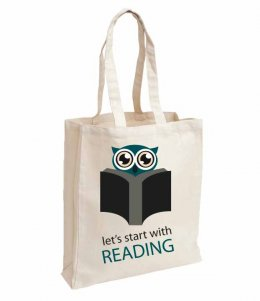 กระเป๋า Lets start with reading bag