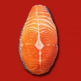 หมอนอิงรูปอาหาร ปลาแซลมอน