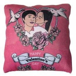 หมอนผ้าห่มสีชมพู วาดการ์ตูน Pillow-Blanket