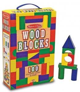 Melissa & Doug -  Wood Blocks Set  ตัวต่อบล๊อคไม้ 100 ชิ้น