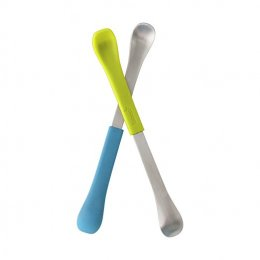 Boon - 2 in 1 Feeding Spoon Grn/Blu