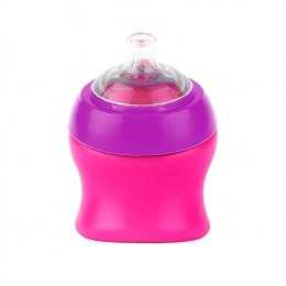 Boon Swig Spout Top Sippy Cup, Pink/Purple,