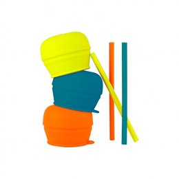 Boon - Snug Straw Silicone Sippy Green