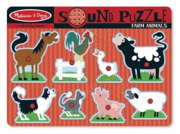 Melissa & Doug -  Sound Puzzle - Farm  พัซเซิลมีเสียง รูปฟาร์ม
