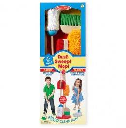 Melissa & Doug - Dust! Sweep! Mop! ชุดเล่นทำความสะอาด