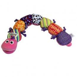 Lamaze -  Musical Inchworm ของเล่นผ้ารูปหนอน  สีชมพู