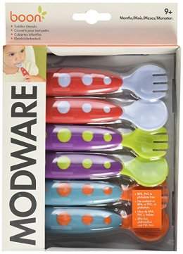 Boon Modware Toddler Utensils - Red
