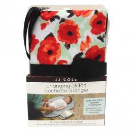 JJ Cole Changing Clutch poppy garden-กระเป๋าเปลี่ยนผ้าอ้อมพกพา