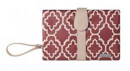 JJ Cole Changing Clutch  Red Trellis-กระเป๋าเปลี่ยนผ้าอ้อมพกพา