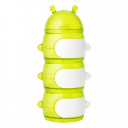 Boon Stack Caterpillar Snack Container - Green/White