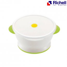 Richell - Rice bowl with microwave cover