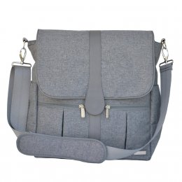 JJ Cole Backpack Diaper Bag, Gray Heather-กระเป๋าคุณแม่