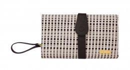 JJ Cole Changing Clutch Black and Cream-กระเป๋าเปลี่ยนผ้าอ้อมพกพา