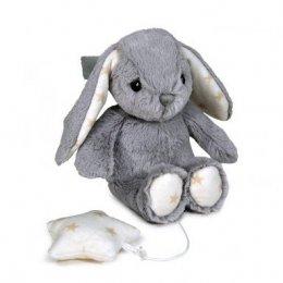 Dreamy Hugginz - Musical Plushie Grey Bunny