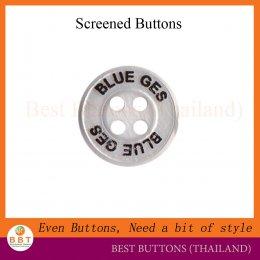 กระดุมสกรีนโลโก้ Blue Ges