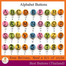 กระดุมตัวอักษร ABC (24L)