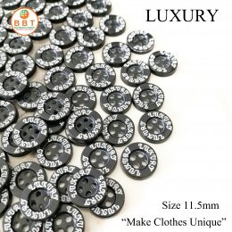 "Engraving Buttons ""Luxury"" in Black Buttons"