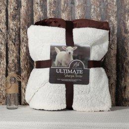 Ultimate Sherpa Throw ผ้าห่มขนแกะ น้ำหนักเบา สีน้ำตาล/ขาว