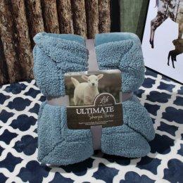 Ultimate Sherpa Throw ผ้าห่มขนแกะ น้ำหนักเบา สีฟ้าคราม