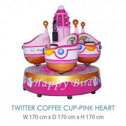 Twitter Coffee Cup-Pink Heart