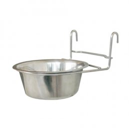 Dog-Link Cage Hanger Stainless Bowl (21 cm.)