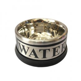 Dog-Link Stainless Bowl (Water Printed)