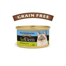AvoDerm Cat Tuna & Crab entree in Gravy Canned 85 g.