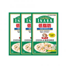 INABA Dog Food Pouch Low Fat Chicken Fillet & Vegetable (80 g. x 3)