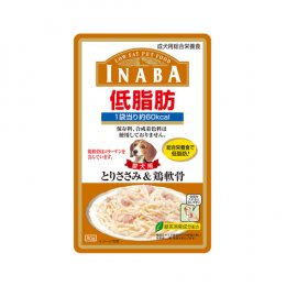 INABA Dog Food Pouch Low Fat Chicken Fillet & Soft Ball of Collagen (80 g.)