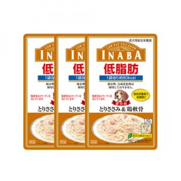 INABA Dog Food Pouch Low Fat Chicken Fillet & Soft Ball of Collagen (80 g. x 3)