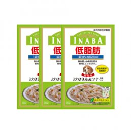 INABA Dog Food Pouch Low Fat Chicken Fiilet Tuna & Vegetable (80 g. x 3)