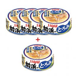 INABA Cat Food Canned Tuna White & Red Chicken Fillet with Bonito (125 g. x 5)