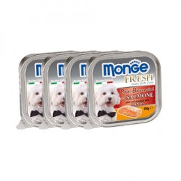 Monge Fresh Pate and Chunkies with Salmon (100 g. x 4)