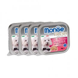 Monge Fresh Pate and Chunkies with Pork (100 g. x 4)