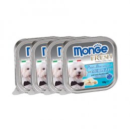 Monge Fresh Pate and Chunkies with Cod Fish (100 g. x 4)