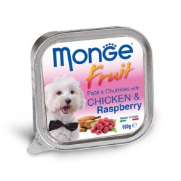 Monge Fruit Pate and Chunkies with Chicken & Rasberry (100 g.)