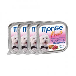 Monge Fruit Pate and Chunkies with Chicken & Rasberry (100 g. x 4)
