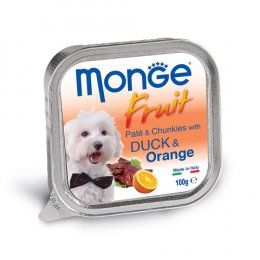 Monge Fruit Pate and Chunkies with Duck & Orange (100 g.)