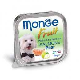 Monge Fruit Pate and Chunkies with Salmon & Pear (100 g.)