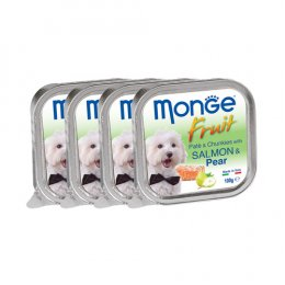 Monge Fruit Pate and Chunkies with Salmon & Pear (100 g. x 4)