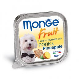 Monge Fruit Pate and Chunkies with Pork & Pineapple (100 g.)